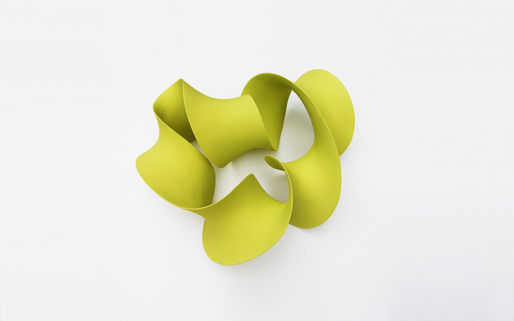Lime green loop, wall mounted, 50x55x25 cm