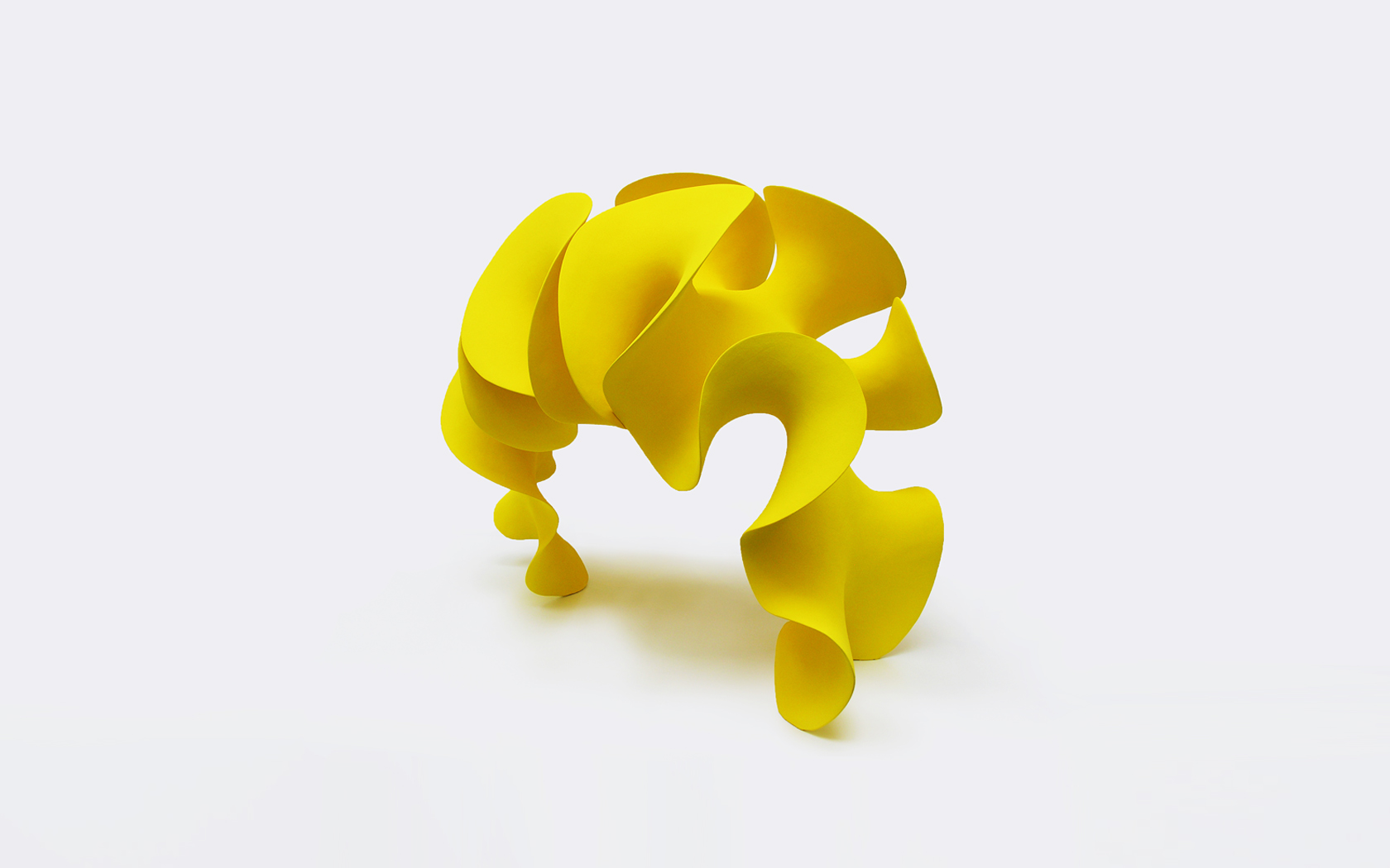 Yellow Form, ceramics 75x90x60 cm